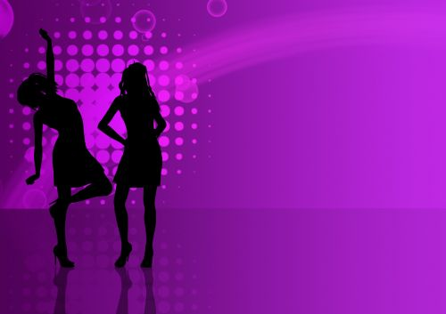 Disco Nightclub Dance Backing Paper