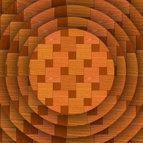 Discs With Wood Parquet Pattern