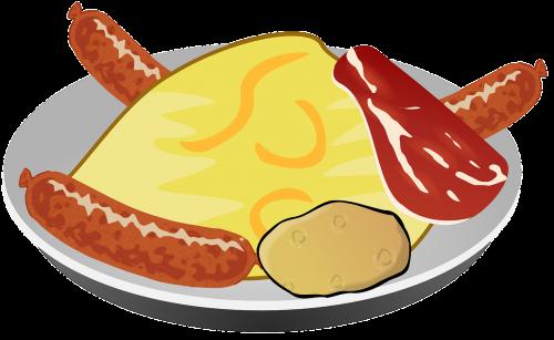 dish food sausage
