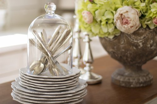 dishes  cutlery  silverware