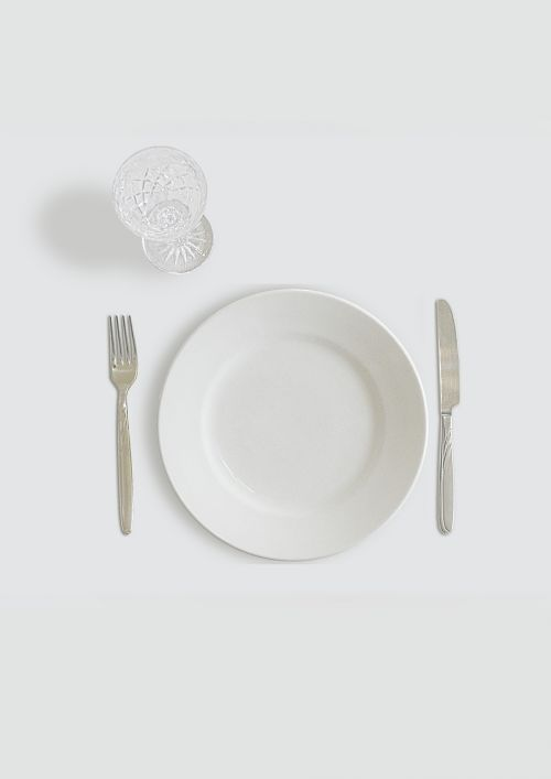 dishes white plate