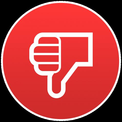 dislike emoji round