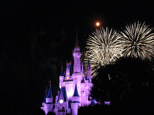 disney world nighttime vacation