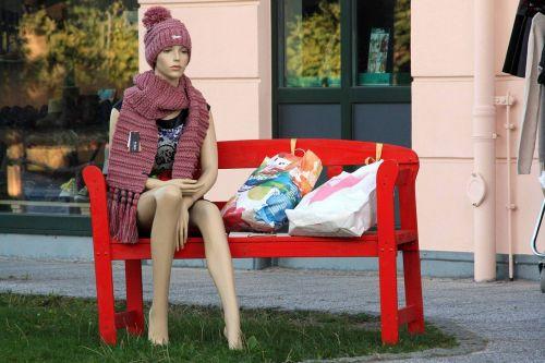 display dummy bank doll