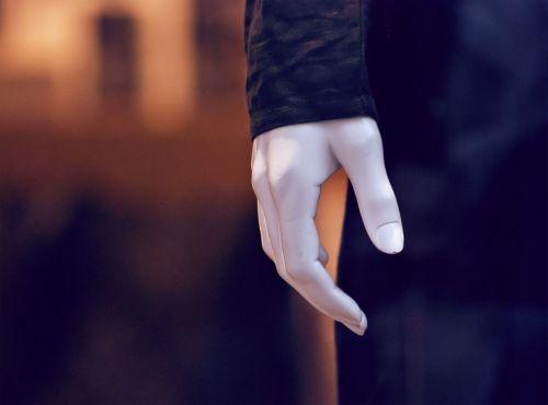 display dummy hand plastic