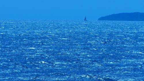 Distant Ocean Sea Yacht