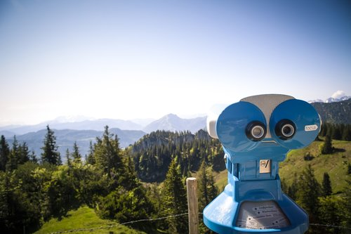 distant view  alpine  mountains
