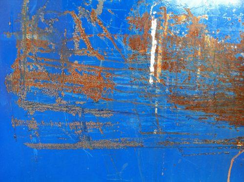 distressed metal blue