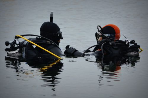 divers people hobby