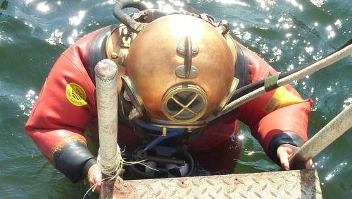 divers helmet helmet diver historically