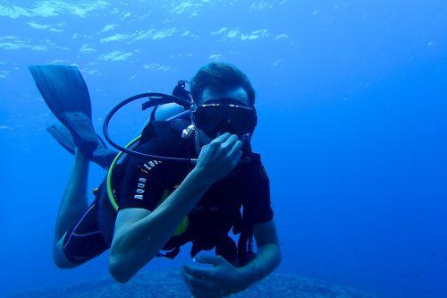 diving diver scuba diving