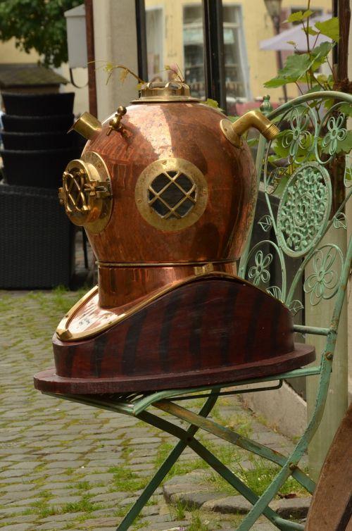 diving divers helmet antique