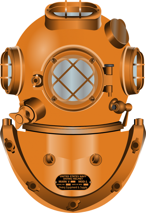 diving helmet diving deep