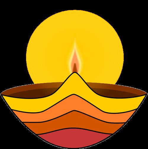 diwali lamp flame