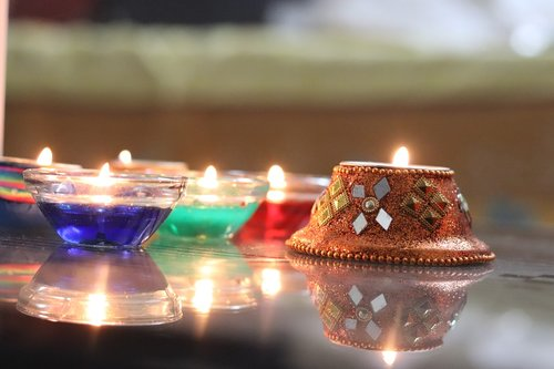 diwali  candle  candlelight