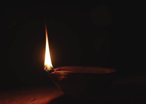 diya  flame  india