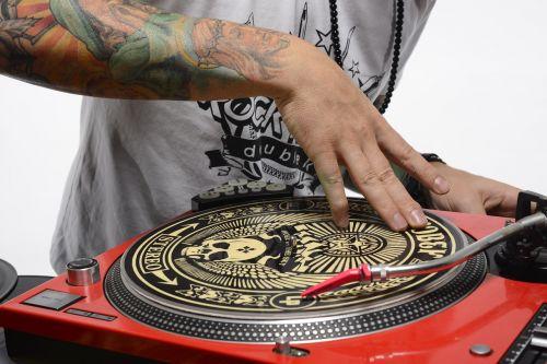 dj turntable scratch