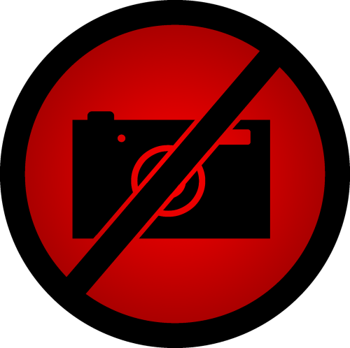 do not take photos a ban on taking pictures red