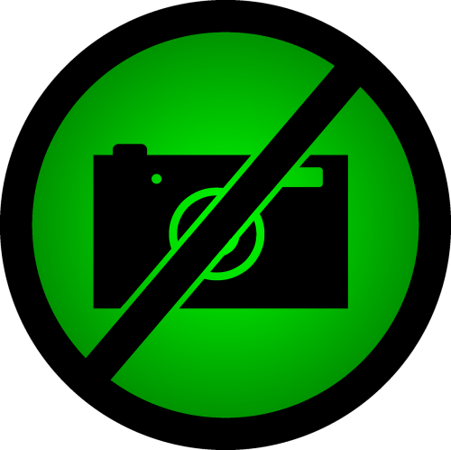 do not take photos a ban on taking pictures green