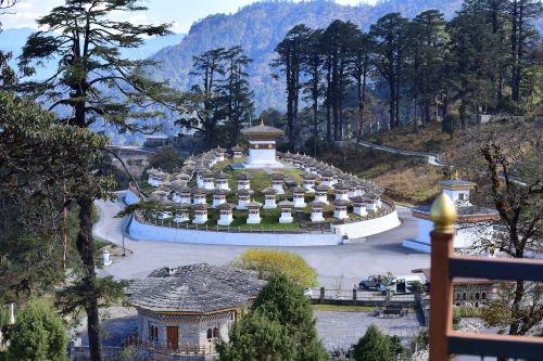 dochula pass monument stupa