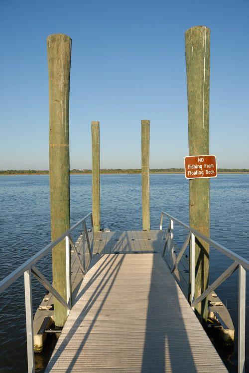 dock boat dock river