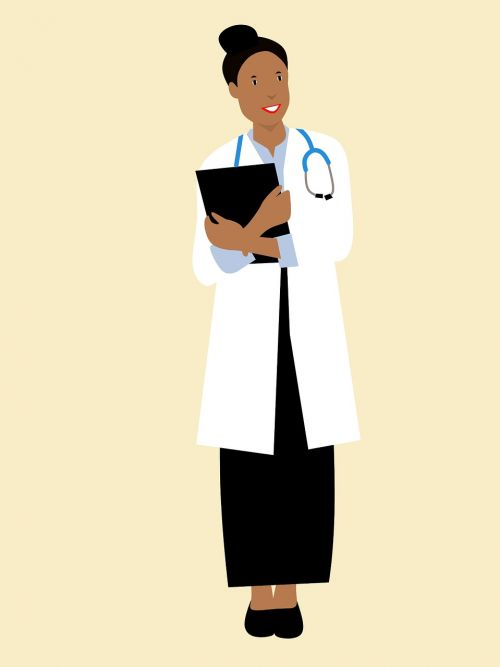 doctor african american confident