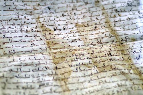 document parchment the middle ages