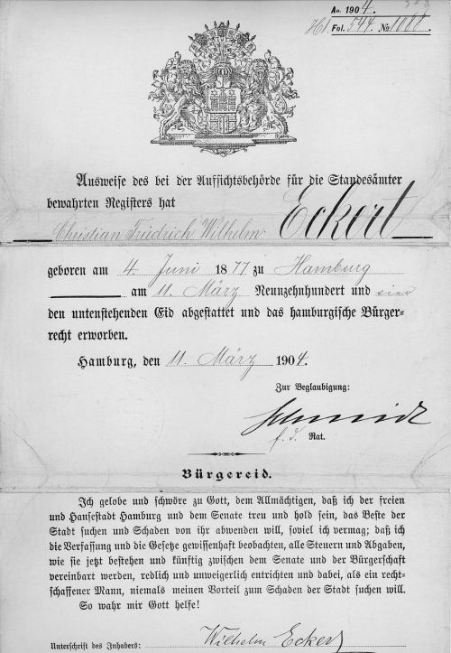 document certificate old