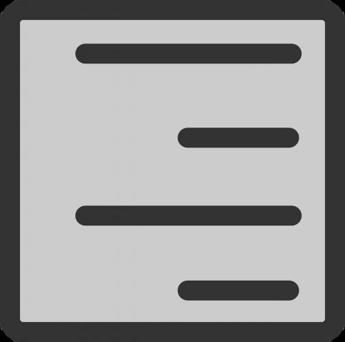 document text alignment