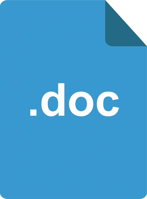 document doc blue doc
