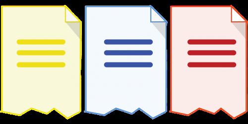 document fragments icon documents icon document