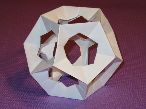 dodecahedron platonic solid origami