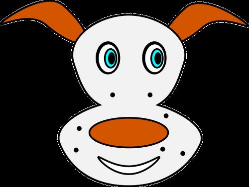 dog spotty freckles