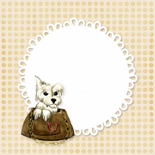 Dog In Handbag Card