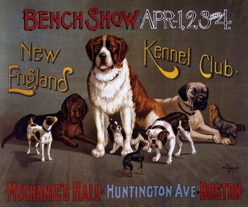 Dog Show Vintage Poster