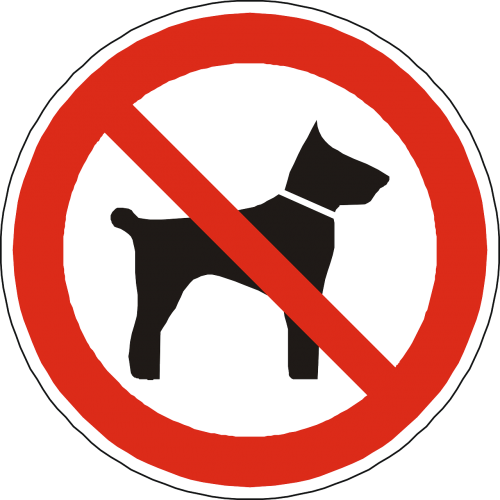 dogs prohibited forbidden