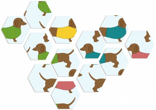 Dogs Abstract Dachshund Background
