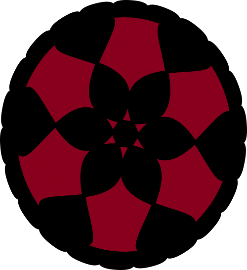 doily flower red
