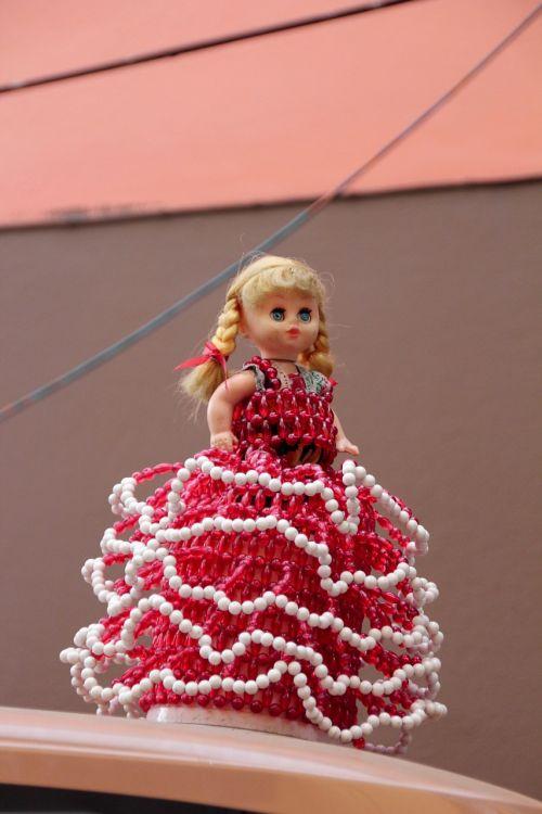 doll dress red