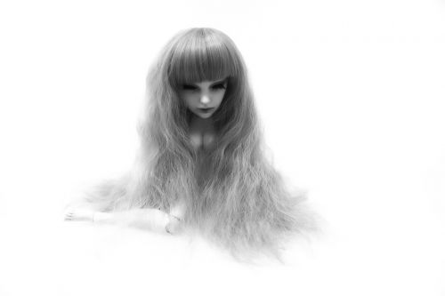 doll head long hair
