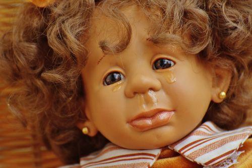 doll girl tears