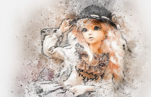 doll art abstract