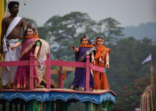 doll chariot saree