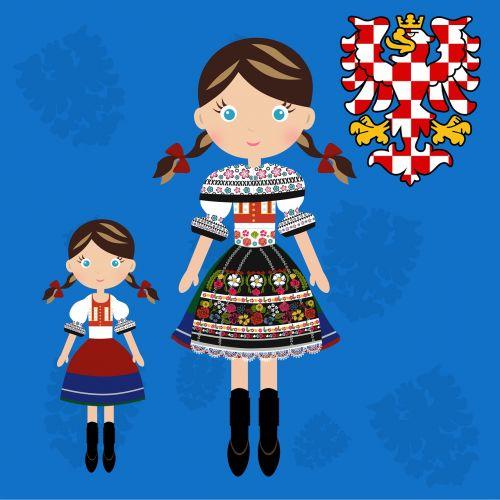 doll czech moravian costume