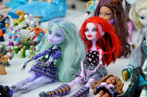 doll  dolls monster  dolls colored hair