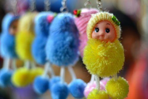 doll key chain cute