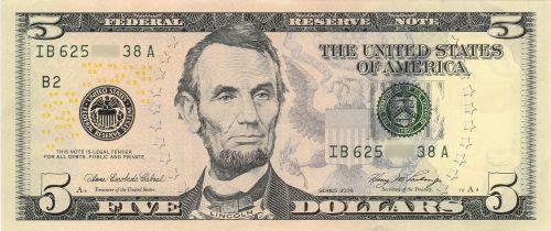 dollar banknote abraham lincoln