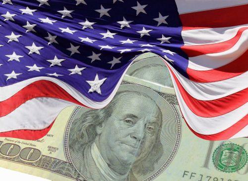 dollar flag usa