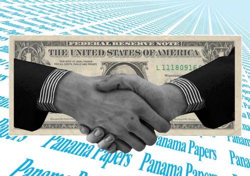 dollar hands shake