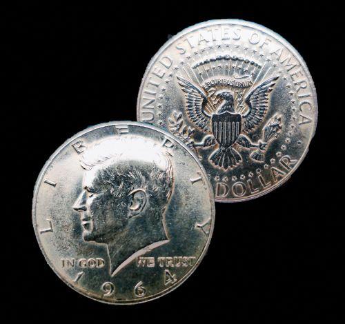dollar half dollar kennedy dollar